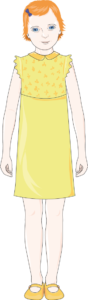 Fille 7 habillée