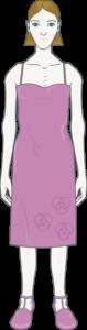 femme maigre habillée
