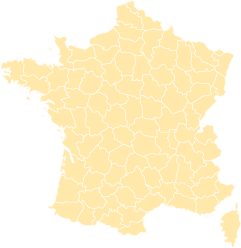 French departments map