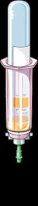 Prise de sang seringue tube