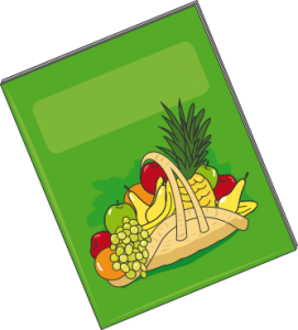 Brochure basket of fruits