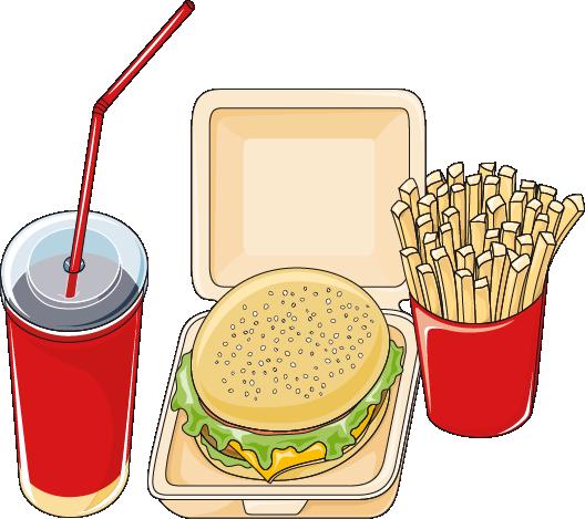 Menu de fastfood