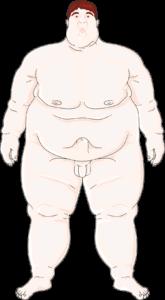 Homme obèse