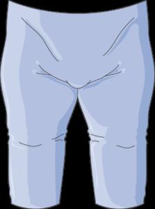 Homme obèse pantalon