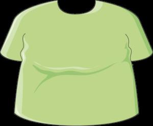 Homme obèse tshirt