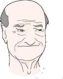 Personne âgée tête